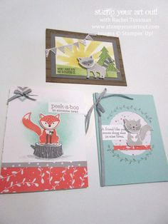 New from Stampin Up! Fox n Friends Stamp Set & coordinating punch. Stampin Up Foxy Friends Cards, Foxy Friends Punch, Cards For Friends, Scrapbooking, Stampin Up Catalog, Stamping Up Cards, Tampons, Card Maker, Card Sketches