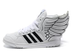 Store Enfant adidas Chaussures Originals by Jeremy Scott JS Wings Blanc/Noir boutiquetn360