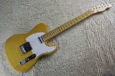 Chinese musical Instruments Factory custom New Vintage 52 Yellow telecaster Electric Guitar free shipping 412 #Affiliate