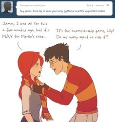 Lucky Scarf by julvett on deviantART Merlin and Harry potter meet... That would be awesome.