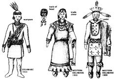 excellent detailed illustrations of NATIVE AMERICAN CLOTHING STYLES, by tribe and region - by NativeTech