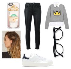 """Nerd off"" by moustachedino1 on Polyvore featuring Alice + Olivia, Yves Saint Laurent, adidas Originals and Casetify"