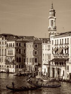 Venice, Venezia in sepia (edel) by Lidia, Leszek Derda on Small Island, World Heritage Sites, Venice, Paris Skyline, Louvre, Italy, River, Landscape, Architecture