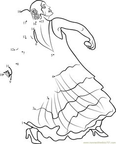 coloring pages flamenco dancers - photo#23