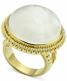 Glitterrings 14k Gold-Plated Saucer Stone Ring
