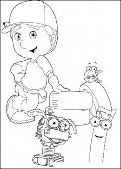 handy manny cartoon coloring for kids printable coloring pages for kids
