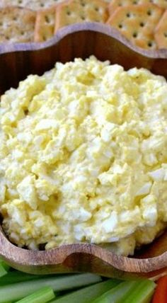 Deviled Egg Dip ~ It's Super Yummy with Veggie Sticks or Crackers.