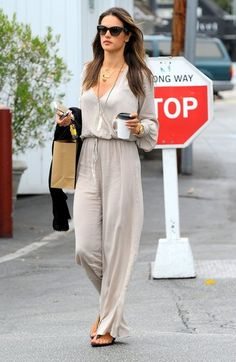 Alessandra Ambrosio Photos - Alessandra Ambrosio street style - boho chic summer outfit - june 2014