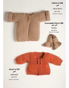 Modèle Veste CB11-56- Patron tricot gratuit