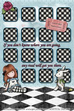 Cute Alice in Wonderland iPhone wallpaper