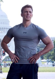 Evans Captain America Body Chris Capitan