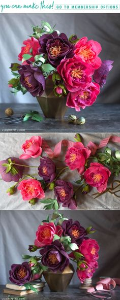 206 best crepe paper flowers images on pinterest in 2018 paper how to make crepe paper peonies lia griffith adult diy crafts are so much mightylinksfo