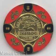 Hollywood Park Casino Year of the Rooster $8 Poker Chip