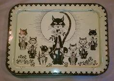 Vintage Mid Century Cat Kitten Retro La Vada Lavada T V Table Bed Tray Dinner   eBay