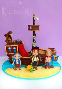 Kidacity | Jake and the Neverland Pirates birthday cake