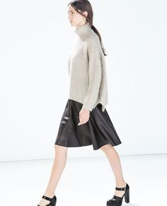 Image 2 of FAUX LEATHER MINISKIRT WITH SLITS from Zara