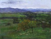 Sir Arthur Ernest STREETON (b.1867; d.1943) - STORM OVER CORRYONG Australian Painting, Australian Art, Sir Arthur, Virtual Art, Art Academy, Student, Paintings, Landscape, Artist