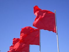 world flags red