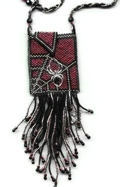 Gothic amulet Case Spider and web PATTERN