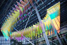 Stunning Light Installation in a Renzo Piano Skycraper – Fubiz Media