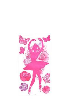 """Let your child add the finishing touch to her room by sticking these ballet stickers wherever her little heart desires. It's the perfect way to let your child do her own form of story telling on her bedroom walls or cupboards, with the glitter adding a touch of sparkle.<div class=""""pdpDescContent""""><BR /><b class=""""pdpDesc"""">Dimensions:</b><BR />L44xH71 cm</div>"""