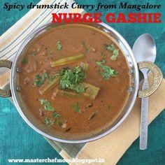 MASTERCHEFMOM: Mangalore Style NURGE GASHIE | Spicy Drumstick Cur...