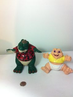 The Dinosaurs Disney Dad & Baby Vintage Toy TV show 1980s collectible sale gift Canteam dinosaur 80s action figure cool old nostalgia on Etsy, $15.80