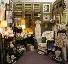 antique mall booth display ideas - Bing images