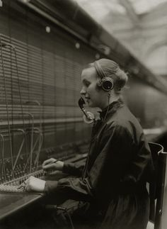 1934.No I am not that old just pic..I was a Telephone Operator right out of hs office closed & I quit went back yrs later & was Directory operator