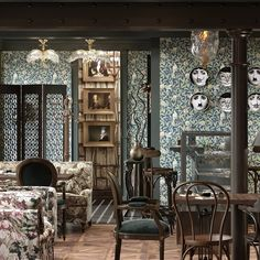 """MorrisandCo on Instagram: """"#wearemorrisandco We love all the interior designers and architects using our Morris & Co product. Have a peruse at this ecclectic image…"""" Cafe Bar, William Morris, Our Love, Cool Stuff, Wallpaper, Frame, Interior, Architects, Designers"""