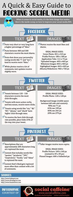 to Rock Social Media How to Rock Social Media - A great infographic I found @ Writers & Authors ;) Thanks Jo!How to Rock Social Media - A great infographic I found @ Writers & Authors ;) Thanks Jo! Social Marketing, Marketing Digital, Mundo Marketing, Inbound Marketing, Marketing Trends, Marketing En Internet, Marketing Online, Facebook Marketing, Business Marketing