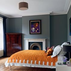 Amazing and Unique Victorian Bedroom Design Ideas. Applying Main Victorian Bedroom Design Ideas in your home can be very fun, especially for women, who dream to live like a queen. Most people prefer th. Bedroom Orange, Gray Bedroom, Home Decor Bedroom, Modern Bedroom, Bedroom Ideas, Master Bedroom, Master Suite, Bedroom Retreat, Stylish Bedroom