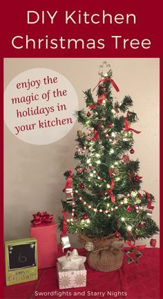 A Kitchen Christmas tree is a festive addition to your holiday decor and a fun way to enjoy your decorations while you're busy with holiday cooking.