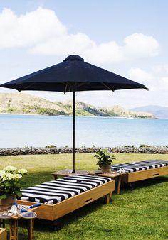 . Outdoor Rooms, Outdoor Gardens, Outdoor Living, Outdoor Decor, Beautiful Homes, Beautiful Places, Kara Rosenlund, Hamilton Island, Garden Furniture