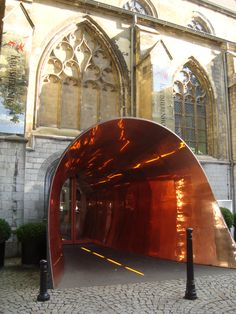 Maastricht Netherlands - Kruisheren Hotel. Fantastic entrance to this renovated Church.