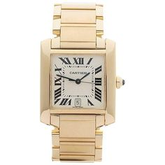 Cartier Tank Francaise 18 Karat Yellow Gold Gents 1840 or W50001R2, 2010s