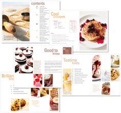 Recipe book re-design by Virtual-hub, via Behance