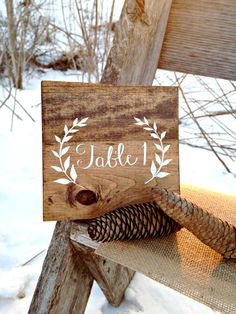 Rustic Table Number Wood Table Number by WoodenThatBeSomethin