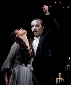 "Sierra Boggess & Ramin Karimloo star in GREAT PERFORMANCES ""The Phantom of the Opera at Royal Albert Hall."" (photo credit: Clive Barda)"