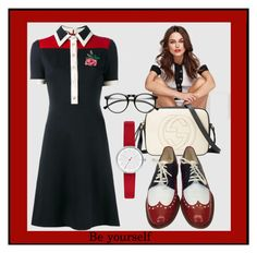 """""""Be Yourself..."""" by sweetadry ❤ liked on Polyvore featuring Gucci, Robert Clergerie and Skagen"""