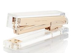 glamorous desk accessories are a necessary luxury. Kate Spade gold stapler
