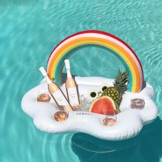 This pool float keeps your rosé cold and within reach, because somebody finally gets it
