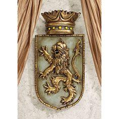 Medieval Rampant Lion Shield