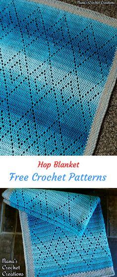 Hop Blanket Free Crochet Pattern #crochet #crafts #homedecor #blanket #style #handmade