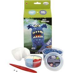 Funny Friends - blått monster, 1sett
