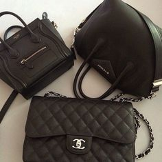 Celine, Chanel and Givenchy
