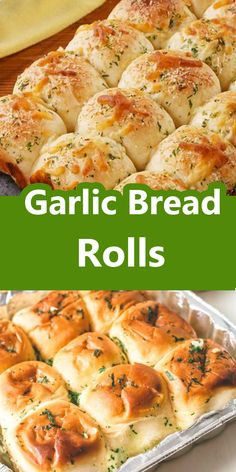 Garlic bread consists of bread, topped with garlic and olive oil or butter and may include additional herbs, such as oregano or chives. It is then either grilled or broiled until toasted or baked in a conventional or bread oven #garlicbread #garlicbreadrolls #dessert