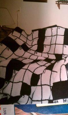 Crossword Puzzle blanket - no pattern