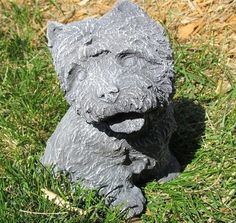 Yorkie Statue Cast Stone – Custom Cement Concrete Blend | eBay $19