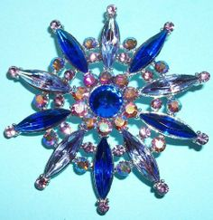Spoontiques Pewter Pin / Brooch - Crystal Royal Blue by Spoontiques Pewter. $8.99